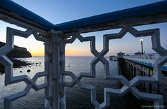 Llandudno Pier & The Great Orme At Sunset (john&mairi) Tags: llandudno pier victorian northwales great orme limestone old norse seaserpent sunset balustrade castiron sea