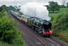 loaded test (midcheshireman) Tags: steam train locomotive bulleid pacific 35028 clanline mainline cheshire