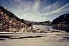 On the road I (la.churri) Tags: viaje trip carretera road montaña mountain embalse cielo sky azul blue paisaje landscape leon asturias babia pajares nikon d90 tokina1224mm