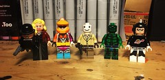 Barrel Scrapers (LordAllo) Tags: lego dc batman superman ventriloquist scarface spellbinder funny face doctor phosphorous planet master
