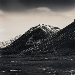 23 - Hofn Mountains (Wilfbiffherb) Tags: iceland landscape fine art black white monochrome medium format ilford ilfordphoto 120 square bronica sqa ethol lpd multigrade mountains hofn