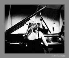 """In MOTION"" (""SnapDecisions"" photography) Tags: jazminharvey jazz piano band tji music tucson arizona nikon tucsonjazzinstitute bw pimacommunitycollege d800 pianist"