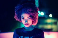 That Evening On A Tanjong Pagar Rooftop (Jon Siegel) Tags: nikon d81050mm 12 nikon50mmf12 f12 nikkor woman girl beautiful beauty portrait night evening singaporean singapore people rooftop neon glow