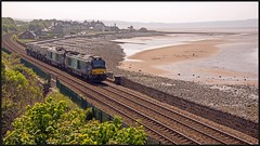 6K41, Llanfairfechan. 24th (peterdouglas1) Tags: valleyflasks directrailservices 6k41 class68 68005 68020 llanfairfechan northwalescoast northwalescoastrailway