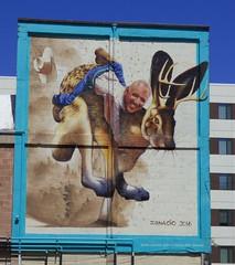 Tucson Mural (galiuros) Tags: mural tucson downtown tucsonarizona ignacio wildwest jackalope