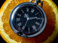 142.365 A Clockwork Orange (marcy0414) Tags: project365 clock watch orange aclockworkorange clockworkorange food