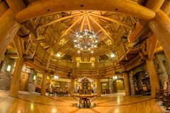 Wilderness Lodge Villas (jordanhall81) Tags: wilderness lodge dvc vacation club walt disney world wdw resort hotel lobby atrium cabin rustic national park long exposure orlando florida fisheye rokinon 8mm