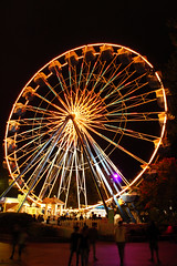 Ferris Wheel (Fire At Will [Photography]) Tags: fire will photography fw photo kings dominion virginia va theme amusement park 2015 night halloween haunt ferris wheel lights attraction