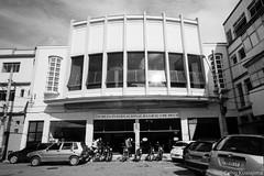 Antigo Cine Odeon, Mogi das Cruzes, SP (Celso Kuwajima) Tags: cityview epsonv800 silverfastai building fujineopanacros100 leicam4 leicasuperangulon13421mm bw architecture temple analogphotography mogidascruzes sãopaulo brazil br