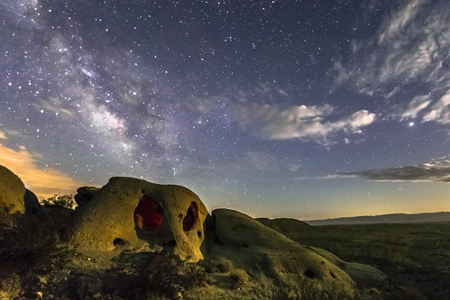 The Milky Way Over a Skull Rock