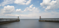 Whitby Piers (C.M_Photography) Tags: whitbypiers whitby sea harbour longexposure 10stop sonyfe28mm riveresk lighthouse balance pierextensions