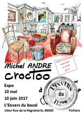 Poitiers, l'Envers du Bocal, mai-juin 2017 (Croctoo) Tags: croctoo croquis croctoofr aquarelle watercolor expo poitiers boutique