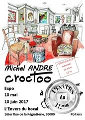Poitiers, l'Envers du Bocal, mai-juin 2017 (Croctoo) Tags: croctoo croquis croctoofr aquarelle watercolor expo poitiers boutique