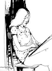 P1016466 (Gasheh) Tags: art painting drawing sketch portrait girl line pen gasheh 2017