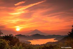 MT.fuji  from Hakone daikanyama (koshichiba) Tags: mtfuji fujisan fuji fujiyama hakone ashinoko lake clouds peak nature orange may summer japan asia daikanyama turnpike mountain