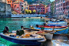 Waterfront... (Howard Brown Photographic) Tags: waterfront water ocean sea liguria ligurian vernazza cinque terre architecture old world boat boats fish fishing clear berth italy italian italia riviera
