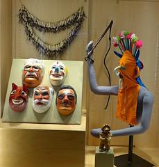 Masks from Ecuador, Spurlock Museum of World Cultures, Urbana (ali eminov) Tags: illinois universities universityofillinois museums spurlockmuseum maska papiermachemasks urbanachampaign