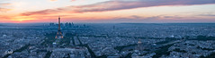From the sky (MF[FR]) Tags: sky sunset europe architecture cityscape paris france panorama eiffel tower panoramic samsung tour arc de triomphe grand palais ciel coucher soleil montparnasse invalides paysage urbain la défense pont alexandre iii nx1
