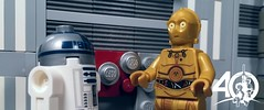 5. The Droids (kyle.jannin) Tags: lego legostarwars c3p0 r2d2 droids 40 anniversary celebration starwars deathstar hallway star wars a new hope episode iv
