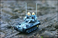 """Johnny on the spot"" (Connor Querin) Tags: lego cvrt scimitar light tank afv british army queens royal lancers 135 brickmania track links tracked vehicle outdoors custom kit for sale"