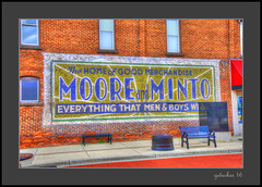 Good Merchandise (the Gallopping Geezer '4.8' million + views....) Tags: sign signs signage ad advertise advertisement business shop store moore minto mooreminto streetscene street old milan mi michigan smalltown southeastmichigan canon 5d3 geezer 2016
