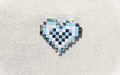 Invader? Asbury Park Tile Heart (Beautification Syndrome) Tags: tileheart heart asburyparknj asburypark boardwalk mural art