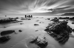 once upon a time... (Migueliglesias76) Tags: asturias amanecer agua water bw longexposure seascape sea sky lastres