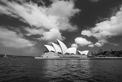 DSC00062 (Damir Govorcin Photography) Tags: clouds sky architecture iconic history blackwhite monochrome water harbour sydney opera house natural light wide angle sony a7ii zeiss 1635mm 12