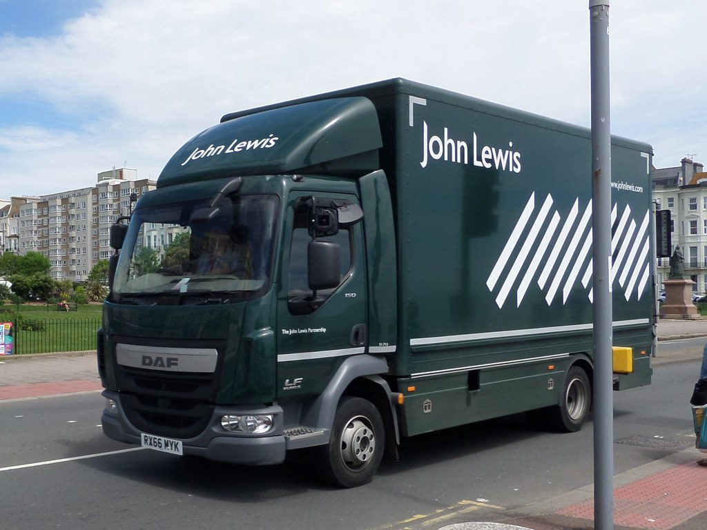 John Lewis RX66MYK_8008 (pjlcsmith2) Tags: Hastings Truck Lorry Delivery  Boxvan Daf Lf Johnlewis