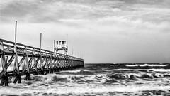 Jetée de Luc-sur-Mer (The Black Fury) Tags: monochrome sea longexposure blackandwhite noiretblanc seascape water nature canon700d sigma1770mmf284dcoshsmcontemporary bw light poselongue omahabeach normandie beach nd8