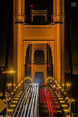 Light Trails - Golden Gate Bridge (lycheng99) Tags: ggbridge gg goldengatebridge bridges closeup lighttrails lights longexposure traffic night nightphotography sfbayarea sf sanfrancisco sanfranciscotravel sanfranciscobridges