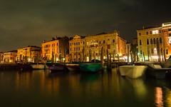 Venice at night (antoine.cbenoit) Tags: night venise dock landscape travel italy venice vacation boat italie nuit canal bateau quai