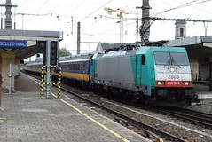 NS 2806 @ Bruxelles Nord (ianjpoole) Tags: nmbs sncb nederland spoorwagen class 28 2806 working train ic9244 amsterdam centraal bruxelles midi
