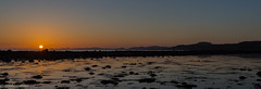 North Ayrshire sunset (Rourkeor) Tags: ardrossan scotland unitedkingdom gb sunset reflections sea seaside horizon glow glistening orange panoramic beach beautiful shine sony sonyrx1r rx1r fullframe carlzeiss zeiss sonnar t 35mm sonyflickraward