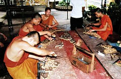 Young Monks at Work (Sallanches 1964) Tags: eternalvientiane buddism buddhistmonk laopeople laosrurallife fareasttravels orient