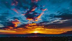 Lanai Sunset (r1aviator) Tags: lanai sunset hi westmauimountains clouds