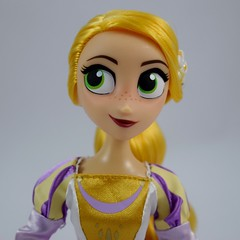 Rapunzel and Cassandra Doll Set - Tangled: The Series - Disney Store Purchase - Deboxed - Free Standing - Portrait Front View of Rapunzel (drj1828) Tags: us disneystore tangled tangledtheseries doll 2017 purchase posable 10inch 2d deboxed rapunzel cassandra