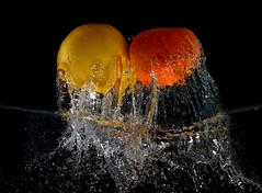 Lemon and Orange (Wim van Bezouw) Tags: lemon orange fruit water splash strobist pluto sony ilce7m2 highspeed plutotrigger
