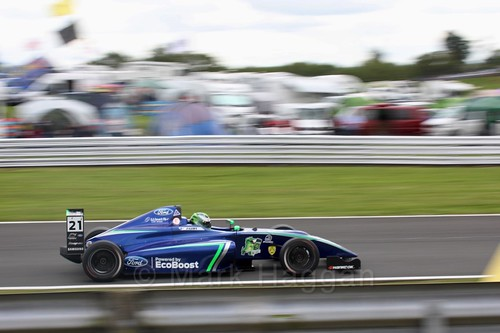 Patrik Pasma in British Formula Four at Oulton Park, May 2017