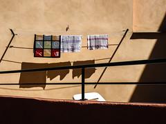 Cleaning day (Franck_Michel) Tags: wall mur soleil sun rag chiffon mop serpillière laundry chadow ombre