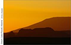 Dawn, Lake Powell, Arizona (jwvraets) Tags: southwest dawn landscape arizona lakepowell yellow warmcolours opensource rawtherapee gimp nikon d7100 nikkor70300mmvr