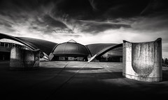 Olympic swimming hall (lja_photo) Tags: architecture architectural art building street streetphotography city cityscape clouds contrast travel tourism textures dramatic detail modern design structure monument luxembourg coque olympic swimming hall black blackandwhite bw bnw blackandwhitephoto white monochrome monotone monoart moody urban