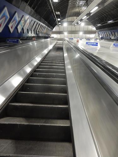 Escalators, London Bridge Tube Station, 21 Dukes Street Hill, Bankside, London
