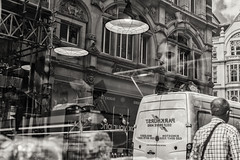 reflections of london (Daz Smith) Tags: dazsmith fujixt20 fuji xt20 andwhite bath city streetphotography people candid portrait citylife thecity urban streets uk monochrome blancoynegro blackandwhite mono london window reflections lights woman traffic