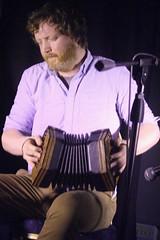 Caoimhín Ó Raghallaigh & Cormac Begley (2017) 07 - Cormac Begley (KM's Live Music shots) Tags: folkmusic ireland irishfolk caoimhinoraghallaighcormacbegley cormacbegley dipperconcertina bassconcertina angloconcertina concertina ceol londonirishcentre