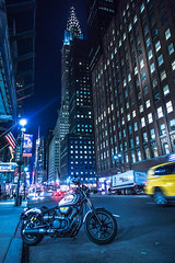 Night on Manhattan (cpphotofinish) Tags: cpphotofinish carstenpedersen canondslr canon5dmk3 carst1 nyc manhattan newyork usa highline chelsea canonofficial square ef24105mmf4lisusm tourist yellowcab urban image outdoor outside photo panoramic panorama sky street streetphoto dslr day daylight foto farger light canon canonredlable color canonef colour clouds bilde blue caferacer chry chryslerbuilding 42street night
