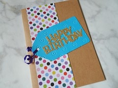 Happy birthday card (echilds41) Tags: homemade card paper crafts papercrafts birthday happy cricut