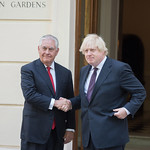 Secretary Tillerson and U.K. Foreign Secretary Johnson Pose for a Photo Before Their Meeting in London thumbnail