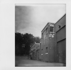 backlot a peel (ToadLickr) Tags: expired impossibleproject bw spectra polaroid onyxcam vancouver hastings