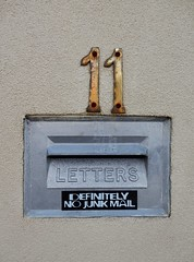 No Junk for #11 (mikecogh) Tags: semaphore letterbox mailbox request 11 sign